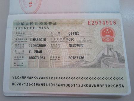 Đóng visa trung quốc