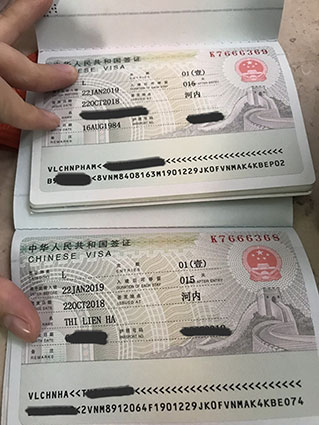 Xin visa trung quốc giá rẻ