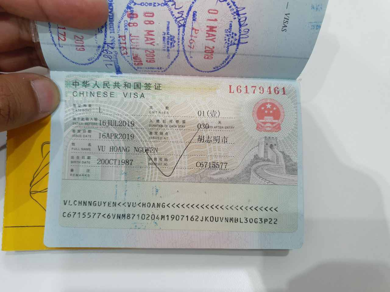 Visa Trung Quốc du lịch